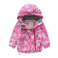 2019 Toddler Girls Jacket And Coats Unicorn Flower Pattern Kids Windbreaker Jackets Autumn Winter Jackets For Boys Children Coat