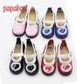 Papabasi 1pair 1/3 BJD Doll High Heels PU Leather Shoes Fit SD DOD LUTS