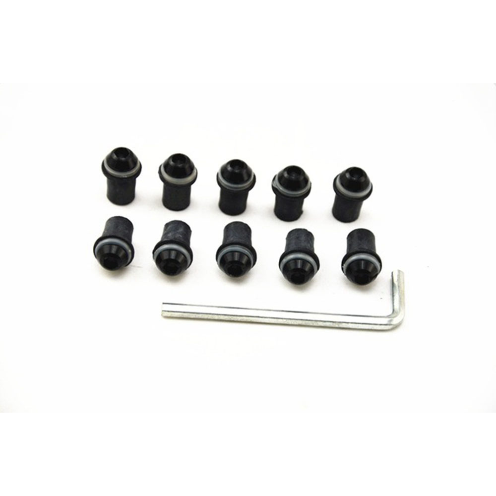 Front Screws for <font><b>Kawasaki</b></font> <font><b>Z1000</b></font> <font><b>2010</b></font> 2011 2012 2013 2014 2015 Autobike Windshield Bolt Kits 10 Pieces CNC Aluminum M5 Screw Kits image