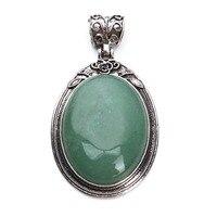 Antique Silver Plated Natural Stone Pendant Necklace Charms No Chian Agate Opal Stone Quartz Pendant Fashion