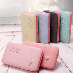Для женщин леди кожаный кошелек Длинные сумочка клатч-бокс чехол для телефона с кармашком для карточек