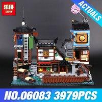 Лепин 06083 город док станции 3979 шт. здание серии 70657 построение блоки Assemblage игрушки коллекционные дети подарок модель