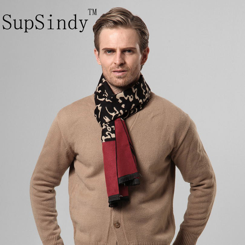 European style Luxury men's   scarf   business casual thick wool   scarves   Feather characters cashmere   scarves     Wrap   Warm men lattice