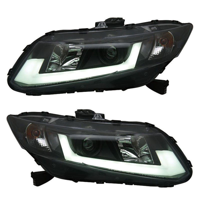 for Honda Civic Projector Headlights HID headlights Low beam with bi-xenon lens fit 2012-up cars