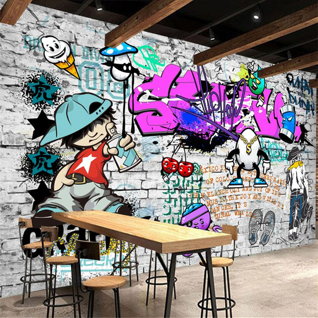 Beibehang Custom Mural Wallpaper Fashion Style Trend Street Art