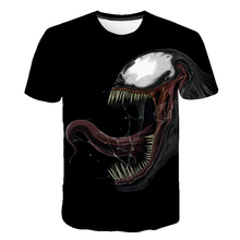 2019 New Venom Summer  T-shirt Avengers Printed Man Collar Short Sleeve Spider-man Mens Casual Comic Costumes