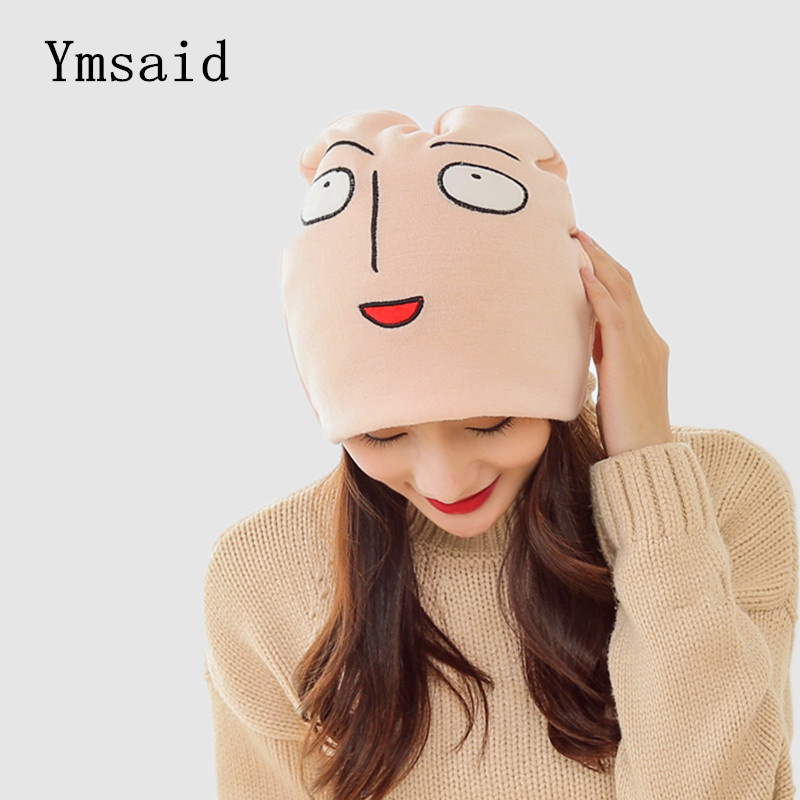 Ymsaid трикотажна шапка японська аніме мила смішна шапочка зимова тепла вовняна шапочка шапочка на Хеллоуїн Шапки та шапки гаряча розпродаж