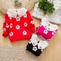0-3 years New Autumn Infant Baby Cartoon Sweater baby Girls Winter Sweater sunflower pattern Child Sweater cardigan
