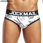 JOCKMAIL Brand Sexy Mens Underwear Briefs Digitally printed UFO panties calzoncillos hombre slip Men Bikini cuecas Gay Underwear
