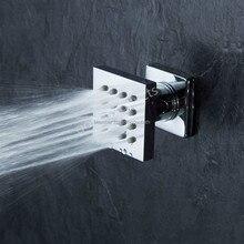 1 pcs Bathroom Brass Shower Square Head Body Massage Jets Sprayer Chrome Finish