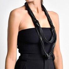 YD y YDBZ 2019 nuevo collares de cuero de las mujeres de la calle colgante collar de Gargantilla Harajuku joyería gótica China automático