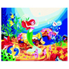 DIY Digital Oil Painting By Numbers With Frame Mermaid Princess Coloring Canvas By Numbers Acrylic Paint