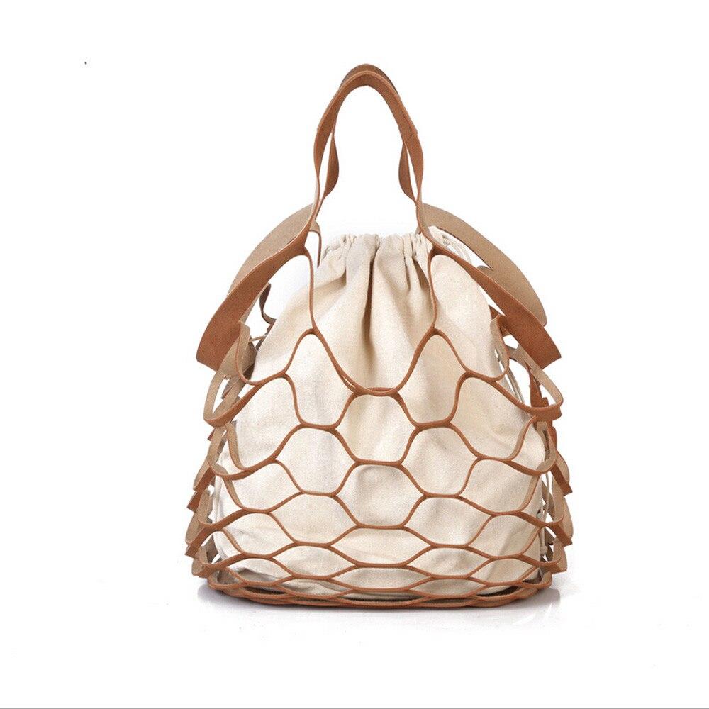 Designer Hollow Out Bucket Bags Small Shoulder Tote Handbag Bolsos Mujer Bolsa Feminina 0918