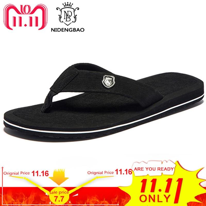 Summer Fashion Men flip flops Beach Sandals for Men Flat Slippers Non-slip Shoes Plus Size 48 49 50 Sandals Pantufa недорго, оригинальная цена