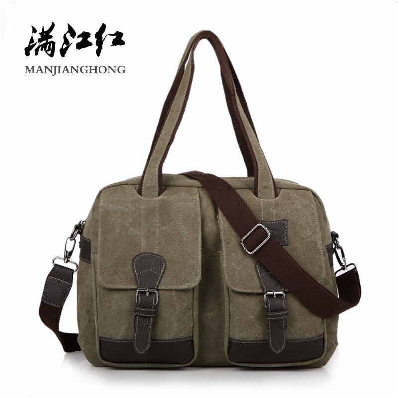 497bf79193f4 Винтажная холщовая мужская сумка на плечо, большая вместительность,  повседневные мужские сумки через плечо,