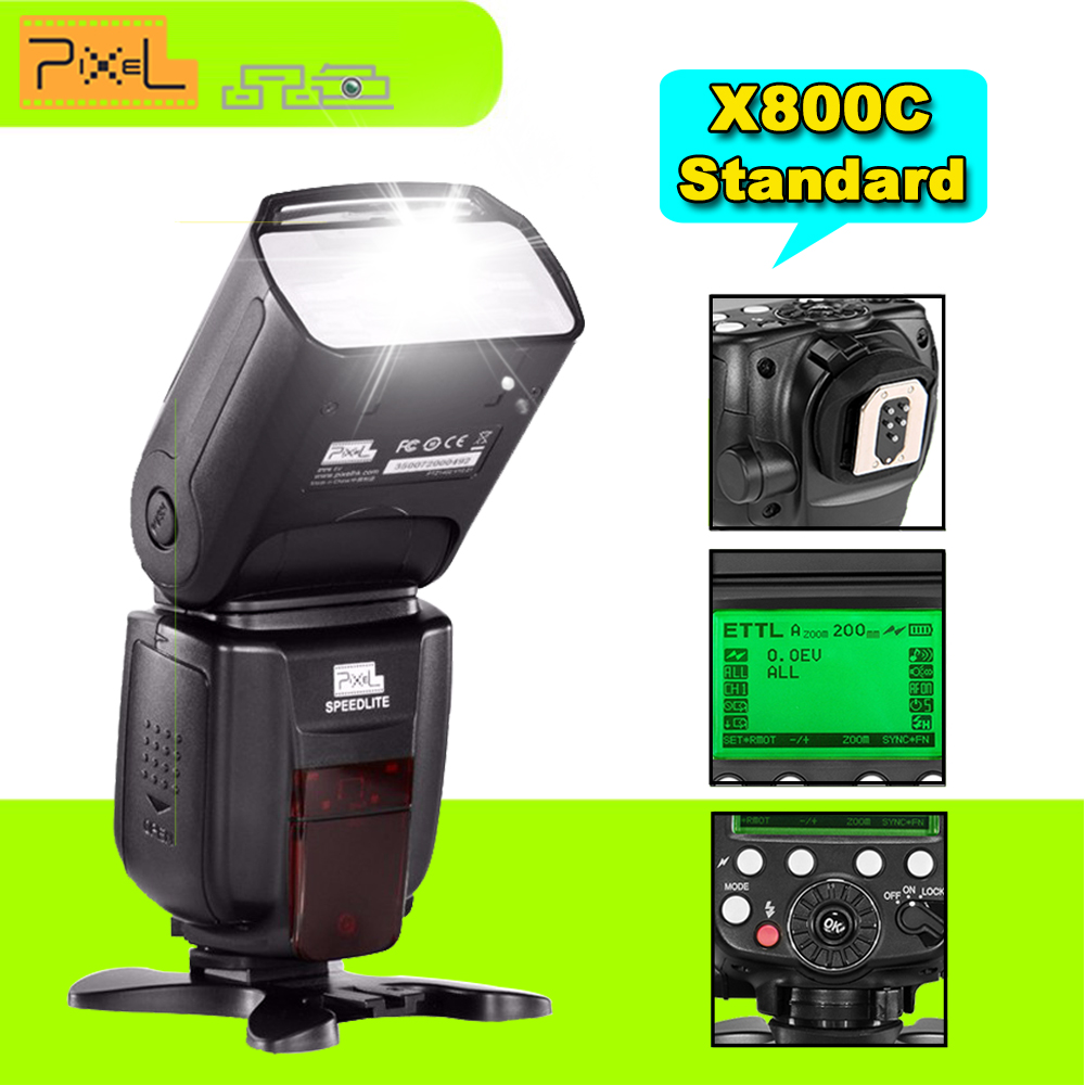 Pixel X800C X800 Standard E-TTL Wireless HSS Flash Speedlite for Canon 6D 7D 70D 60D 600D Cameras Vs YN600EX-RT II YN568EXII вспышка для фотокамеры 2xyongnuo yn600ex rt yn e3 rt speedlite canon rt st e3 rt 600ex rt 2xyn600ex rt yn e3 rt