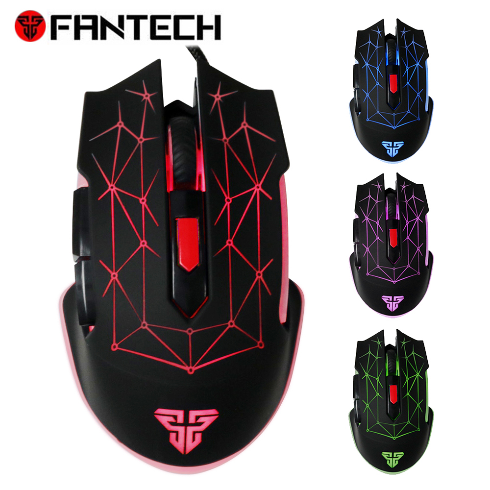 цены FANTECH X7 Macro RGB Mouse 4800DPI Optical 6D USB Wired Gaming Mouse Pro Gamer Computer Ergonomics Mice