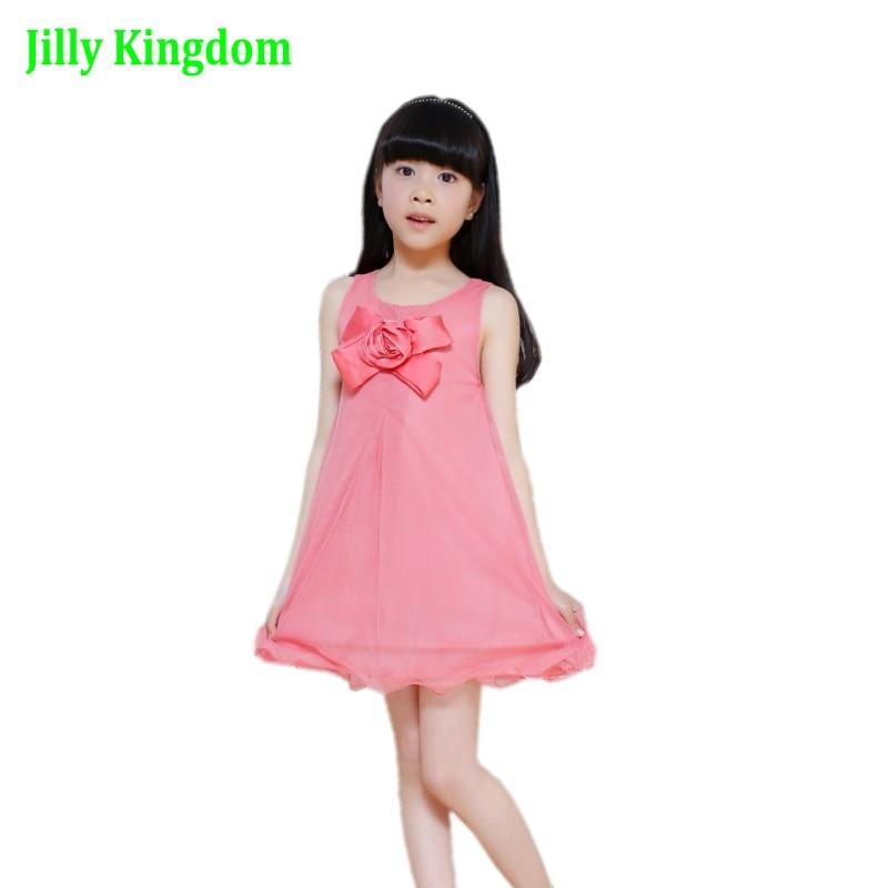 Kinderen Zuigelingsmeisje Bloemblaadjes Jurk Kinderen Bruidsmeisje - Kinderkleding