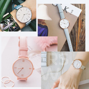 Image 5 - 12mm 14mm 15mm 16mm 17mm 18mm 19mm rose gold real leather strap, watch band, pink, blue and Gray Lady Watch free postage.