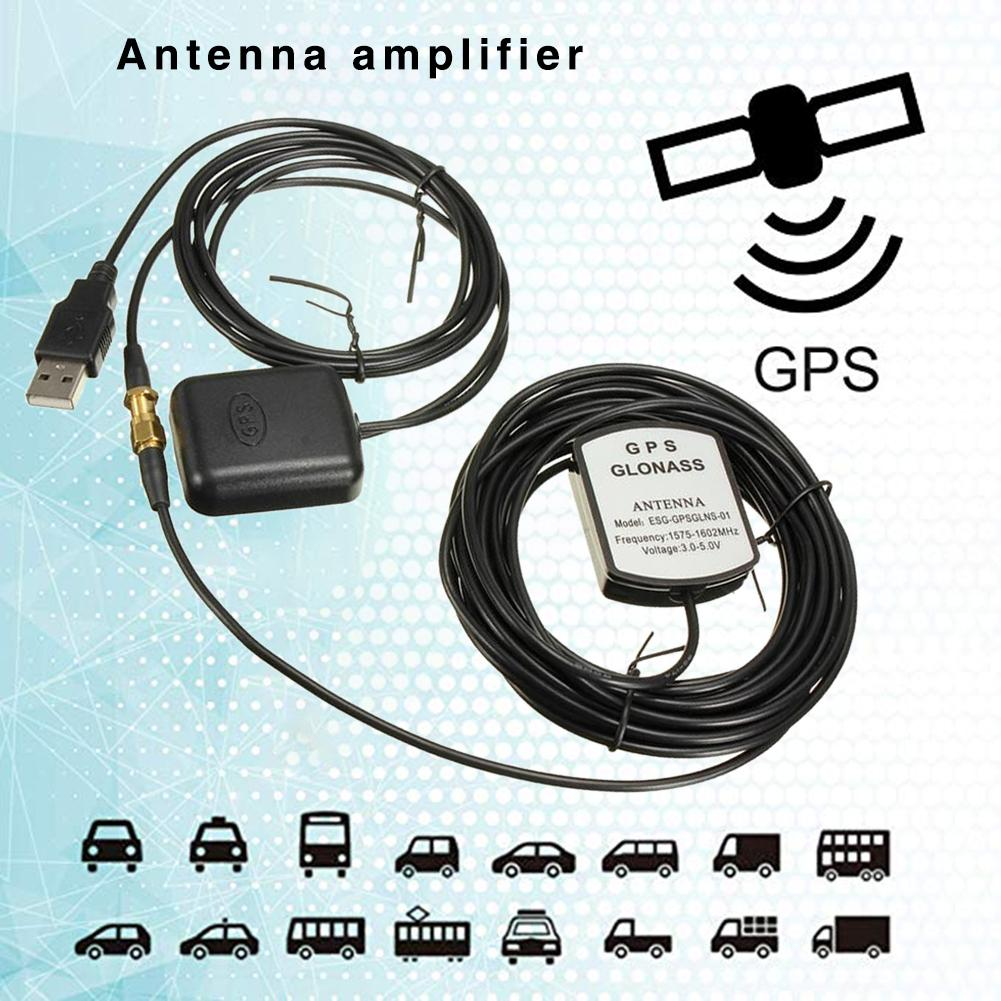 <font><b>5V</b></font> <font><b>USB</b></font> Car SUV GPS <font><b>Antenna</b></font> Amplifier Receiver Repeater Navigation Kit For Android Phone With Install Fixed Double-sided Tape image