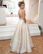 Ромбиковое платье для выпускного вечера с круглым вырезом без