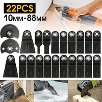 Doersupp 22 Pcs/Set Mix Oscillating Multi Tool Saw Blade Kit Multimaster For Fein For Bosch Power Tool Accessories