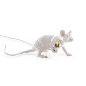 Image 4 - 3 style żywica lampa mysz krajem ameryki indywidualna kreatywna sypialnia nocna gabinet dekoracja biurka mała lampa stołowa myszy