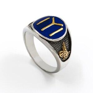 Мужское кольцо из нержавеющей стали 316L, золотистое/серебристое кольцо из нержавеющей стали высокого качества в турецком стиле, Османской и...
