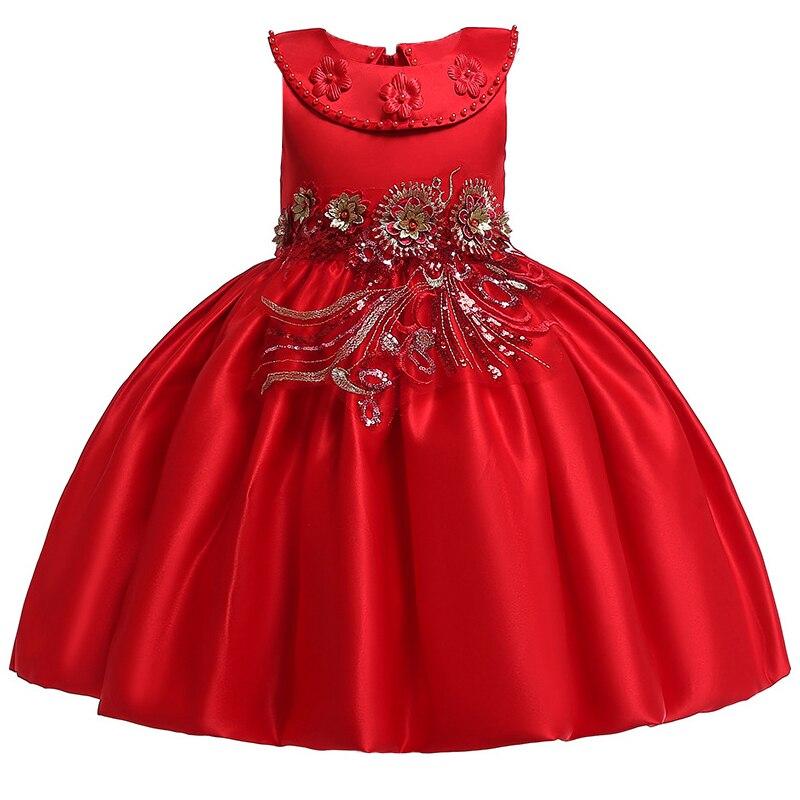 4599051ae63 Elegante estilo grande Bow Tutu disfraz princesa Navidad bebé niña vestidos  de fiesta de ropa de niños vestidos 3 -8