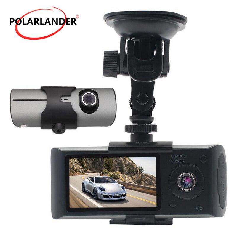 X3000 R300 140 Degrés Grand Angle Cam Vidéo Enregistreur Double Lentille 2.7 pouce TFT LCD Avec GPS Double Caméra 3D g-Capteur Véhicule Voiture DVR