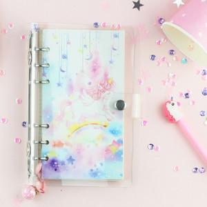 Image 4 - 2019 ins A6 Kawaii coreano bonito Material Escolar Caderno do Viajante Mensais e Semanais Agendas Planejador Escola Papelaria presente Diário