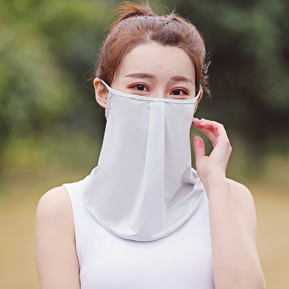 Outdoor Summer Face Mask Anti-UV Ice Silk Mask Quick-drying Unisex Riding Hiking Face Mask Head Scarf Scarves Bandana Mask
