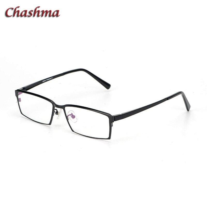 Demi-monture lunettes noires lunettes hommes montures titane pur messieurs Style affaires pleine jante lunettes cadre