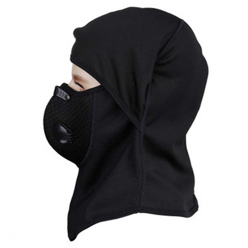 Наружная Спортивная маска для езды на велосипеде, ветрозащитная термальная крышка головы, капюшон и дыхательная маска с вентиляционной комбинация клапанов