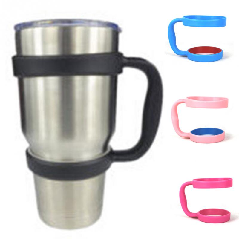 NEW Portable Plastic Water Bottle Mugs Cup Handle For YETI 30 Ounce Tumbler Rambler Cup Hand Holder Fit Travel Drinkware #1012