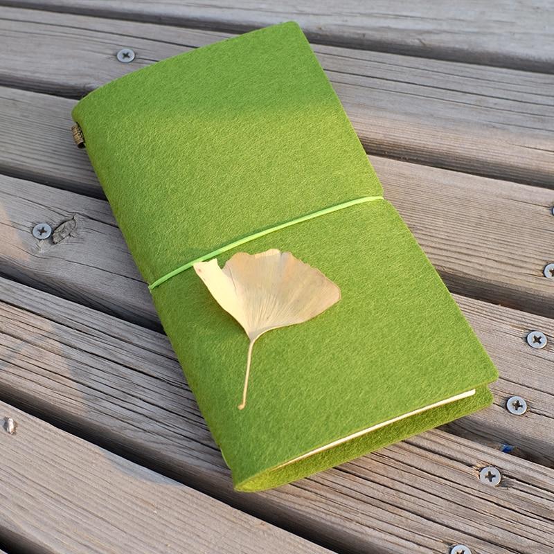 Felt Fabric Traveller's Notebook DIY ауыстырылатын - Блокноттар мен жазу кітапшалары - фото 2