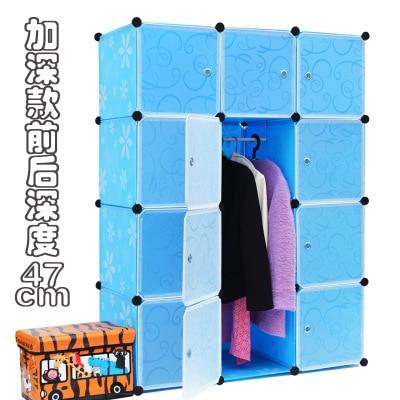12 cubes DIY magic free assembly diy wardrobe closet plastic wardrobe closet organization wardrobes for sale