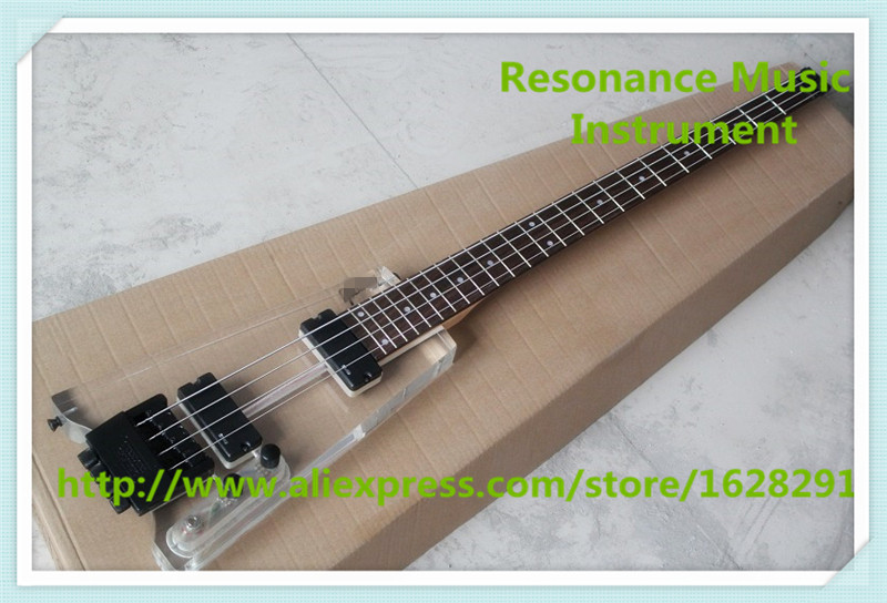 New Arrival China Acylic Body 4 String Headless Electric Bass Guitars With Rosewood Fretsboard For Sale