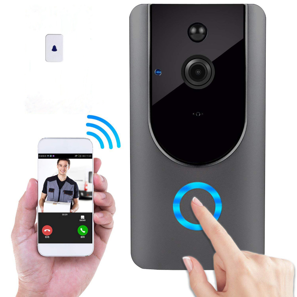 Wireless doorbell Wifi smart doorbell 720P HD home security camera with 8GTF card and chime remote voice intercom real-time vid усилитель сигнала 3g picocell 2000 sxb