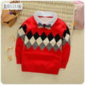 2017 New Cotton Korean Kids Boys Clothes, Casual Outerwear Long Sleeve Pullover, Geometric Pattern Kids Clothes Autumn  Winter