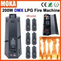 """6 יח'\חבילה גפ""""מ להבת מכונה גוף ברזל מכונת שלב אפקט dmx אש להבת מקרן DMX 512 לירות עד 1 3 מטר dmx 512 dmx fire machineflame projector -"""