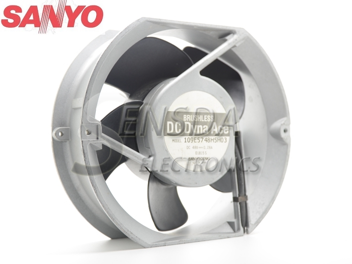 Sanyo 109E5748H5H03 17251 172mm 17cm DC 48V 0.28A mechanical metal Aluminum Frame server inverter fan 2 pcs gdstime tow ball bearing 48v 170mm x 50mm circle cooler metal case industrial dc cooling fan 172mm x 51mm 2pin 17cm 17251
