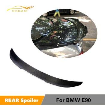 BMW 3 Serisi için E90 Bankası Sedan M Tech M3 2005-2012 Karbon Fiber Arka Bagaj Spoiler Kanat Boot dudak