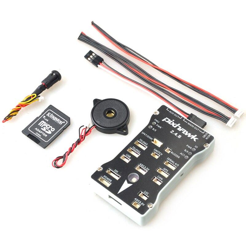 Pixhawk PX4 autopix 2.4.8 Control de vuelo de 32 bits con PX4FMU PX4IO interruptor de seguridad zumbador 1G SD para bricolaje drone RC Multirotor-in Partes y accesorios from Juguetes y pasatiempos    1