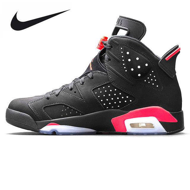 27331fc84334 ... sweden nike air jordan 6 black infrared aj6 men basketball shoes black  red shock 82aee 73bd8