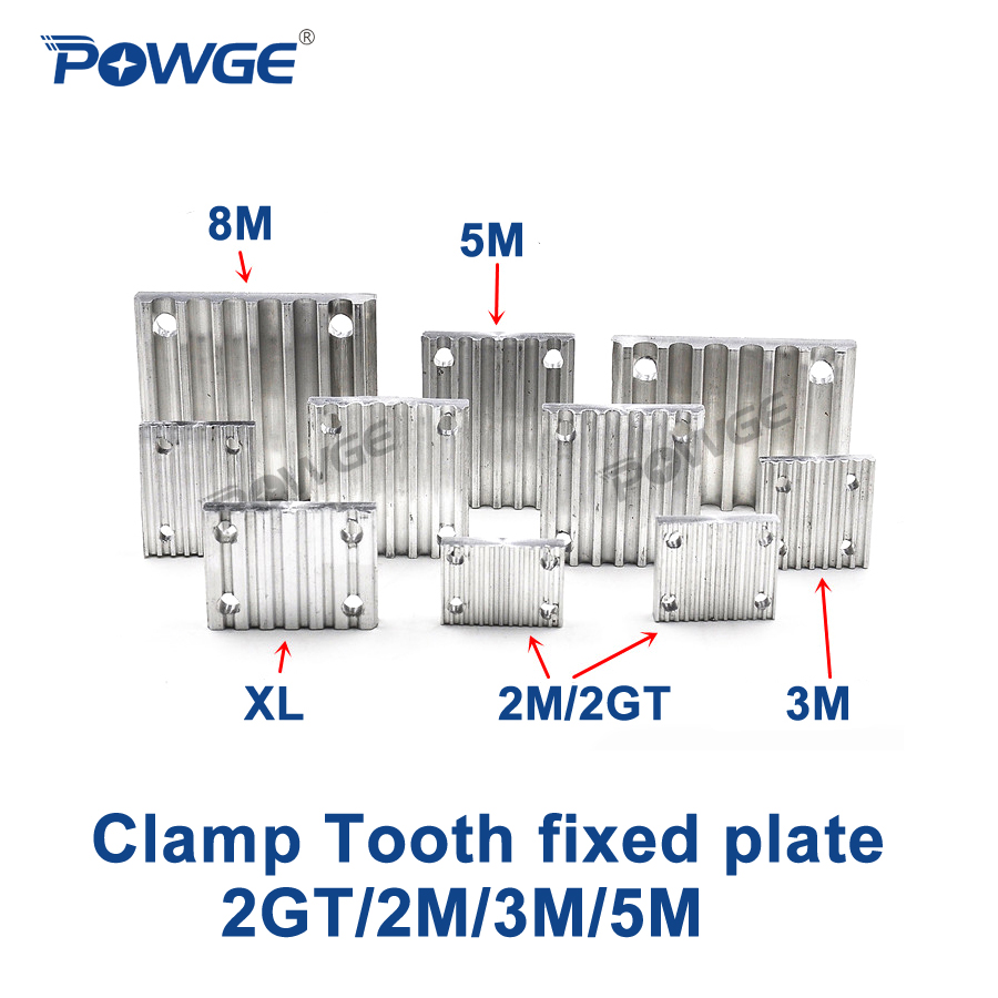 POWGE Aluminum Arc Clamp Tooth plate HTD 2GT/2M/3M/5M for open synchronous belt Fixed clip timing Belt connection Teeth platePOWGE Aluminum Arc Clamp Tooth plate HTD 2GT/2M/3M/5M for open synchronous belt Fixed clip timing Belt connection Teeth plate