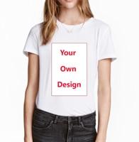 2018 индивидуальный заказ Для женщин футболка поместить свой собственный Дизайн и логотип высокое качество Футболки для леди индивидуальные