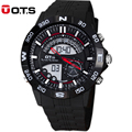 50M Professional Waterproof large dial Quartz men Watches digital Multifunction analog Luminous wristwatches 2016 fashion OTS