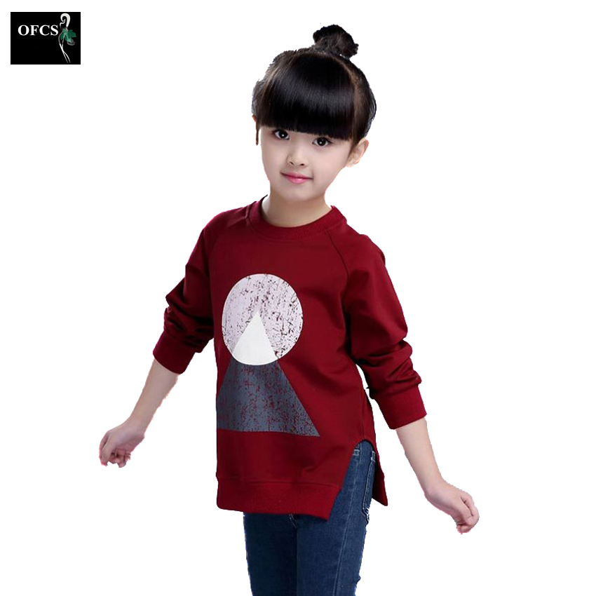 Fashion Autumn Knitted Sweaters Wool Geometric Patterns Les Filles Long Sweater Girls Thin Pullover Underwear Children