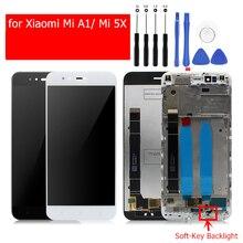 Для Xiaomi Mi A1 ЖК-дисплей Дисплей Сенсорный экран Стекло Панель рамка планшета сборки для Xiaomi Mi 5x запасных Запчасти ключ Подсветка